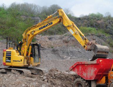 Excavator Loading Dumper